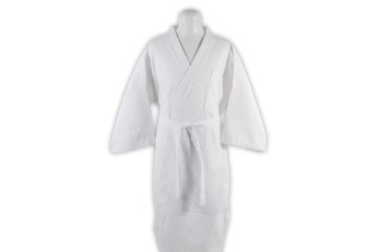 Bathrobe Cotton Waffle White