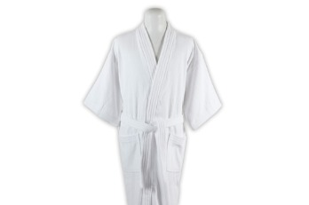 Bathrobe Cotton Terry Shearing All White |
