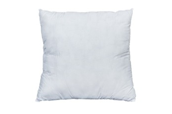 Cushion Plain/Piping Dacron White  |