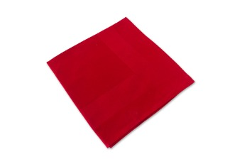 Napkin Damask Frame Red Chilli