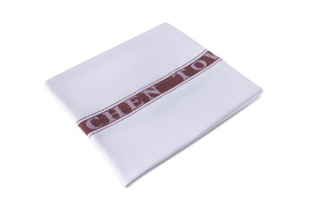 Kitchen Towel Stripe White/Brown