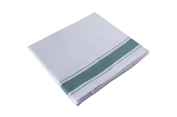 Glass Cloth Stripe White/Green