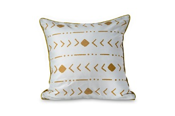 Cushion Cover Tribal Stripe Creme | Polyester CVC