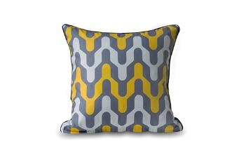 Cushion Cover Rounded Chevron | Polyester CVC