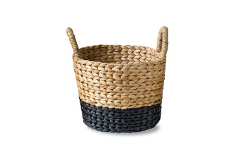 Bucket WH Basket Natural Black