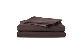 Fitted Sheet TC-180 Plain Dark Brown