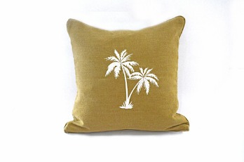 Cushion Cover Double Palms Embroidery |