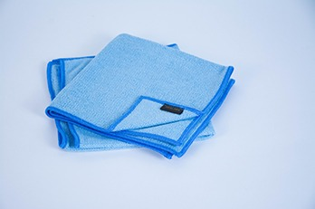2 pcs Microfiber Cloth Plain Blue