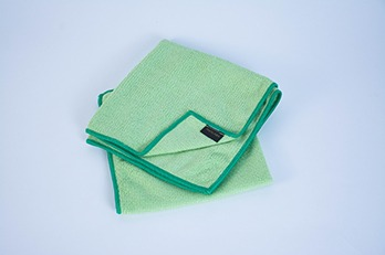 2 pcs Microfiber Cloth Plain Green