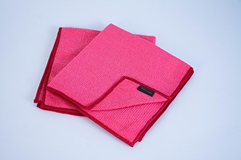 2 pcs Microfiber Cloth Plain Red