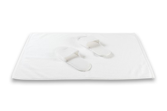 Bath Mat Plain White | 100% Cotton, Plain