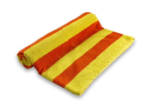 Pool Towel Stripe Orange/Yellow 100% Cotton