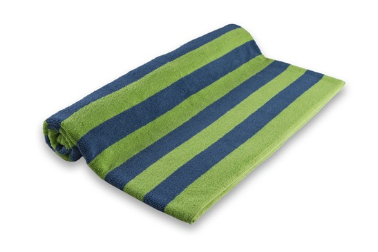 Pool Towel Stripe Blue/Green 100% Cotton